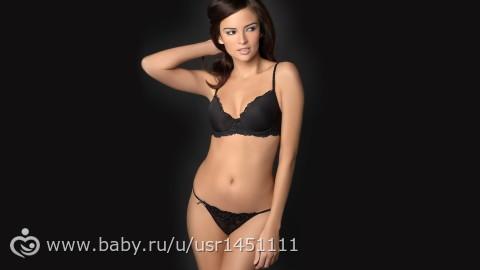 девушка в черном нижнем белье фото