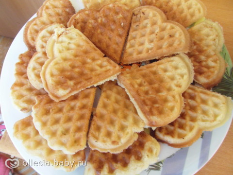 домашние вафли в вафельнице рецепт сердечка