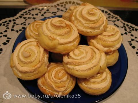 Творожное печенье с безе рецепт с фото