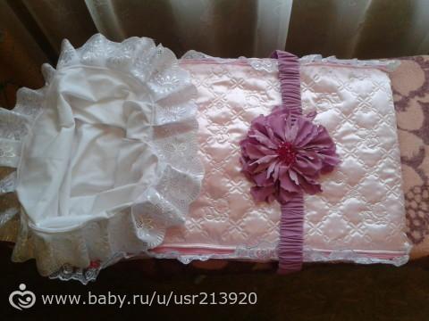 Вяжем для новорожденного конверт 55