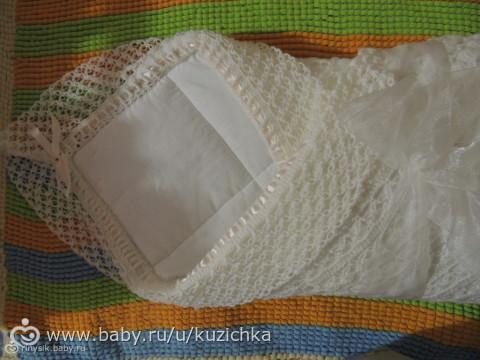 Вязанные одеяло для новорожденных на выписку