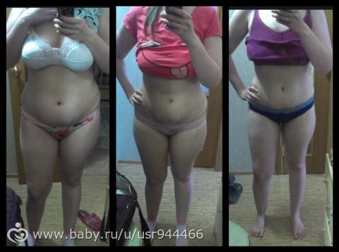 как я похудела после родов фото