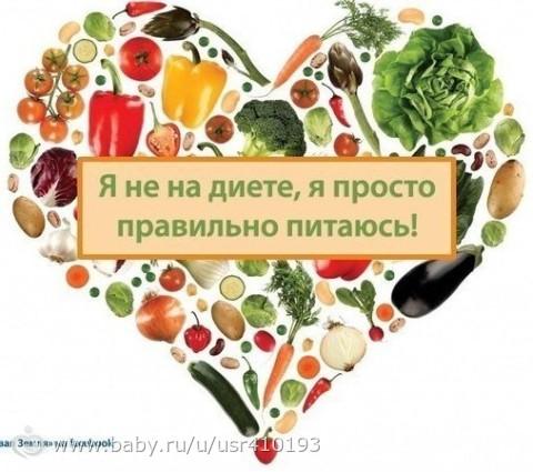 примеры питания для похудения на неделю