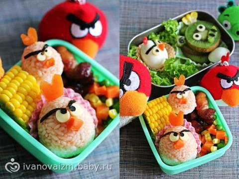 Блюда и украшение праздничного стола для детей фото