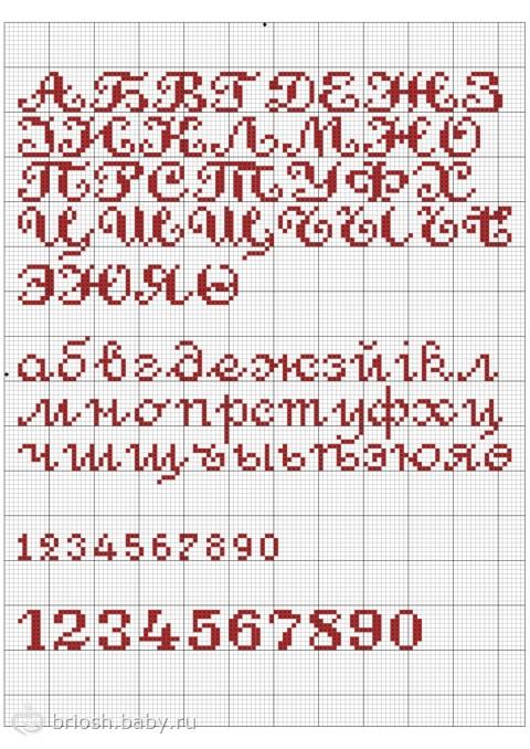 Схемы вышивок крестом русских букв