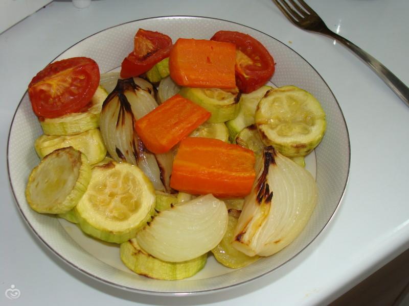 Овощи запеченные в аэрогрили