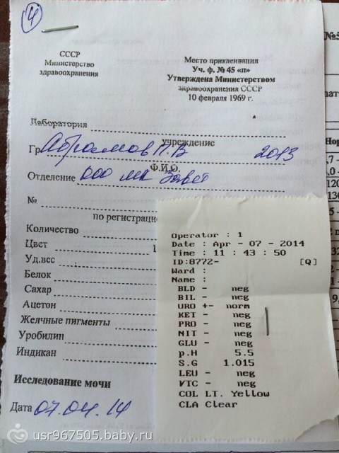 Col yellow анализе мочи Сертификат о профилактических прививка Проезд Энтузиастов (деревня Зверево)