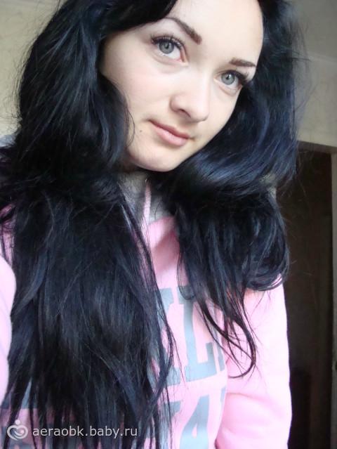 Цвет волос чёрно синий