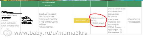 Долг по алиментам -сама в шоке)))