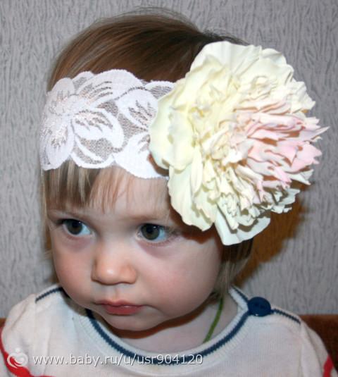 Купить Повязка на голову для девочки из