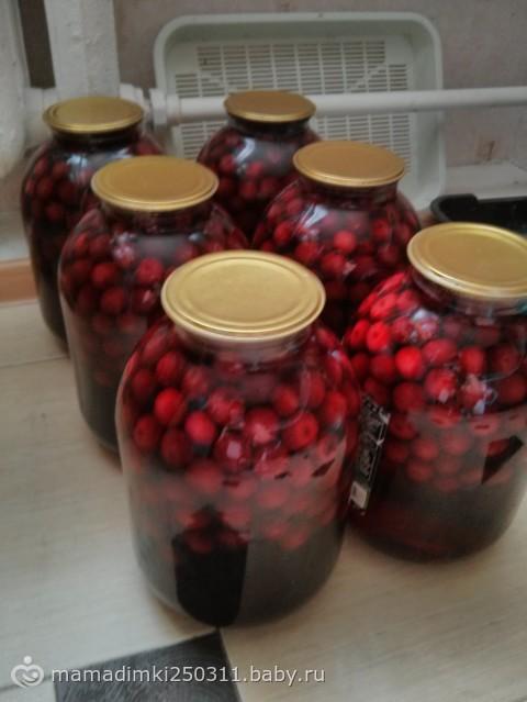Сколько сахара класть на 3 литра компота из вишни