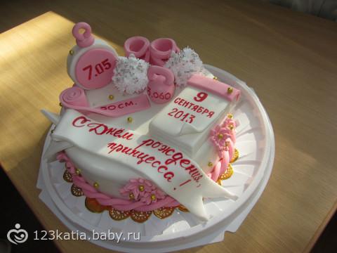 Тортик на 1 годик девочке своими руками