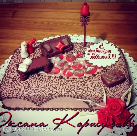 торт любимому мужу.фото