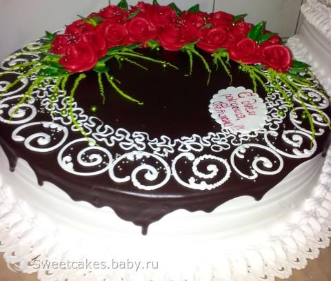 Оформить торт фото
