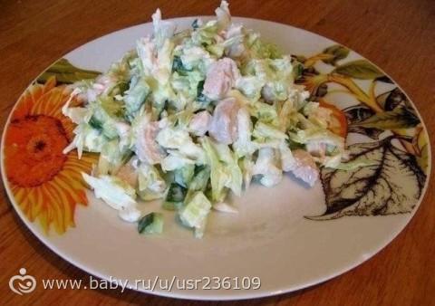 Легкий салат фото-рецепт