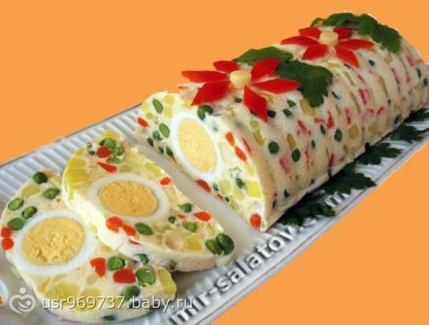 Рецепт слоеных салатов с фотографиями
