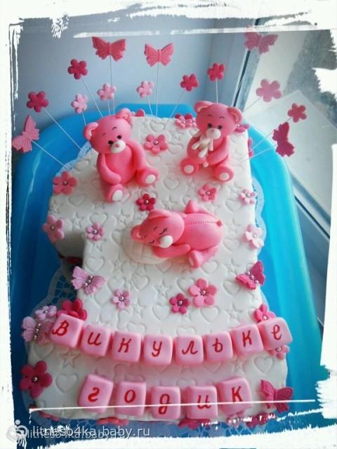 Торт на годик в форме виктории фото