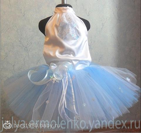 Как сшить платья снежинки