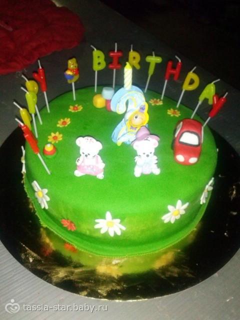 Торт для мальчика 2 года своими руками фото