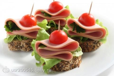 Бутерброды для фуршета рецепты с фото