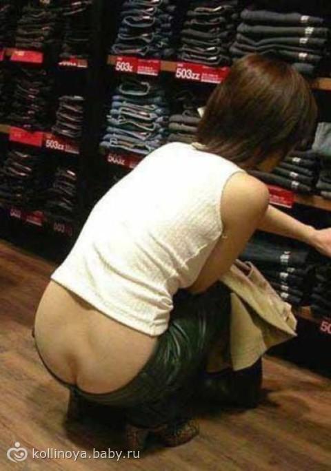Видны попки из под джинсов фото 141-260