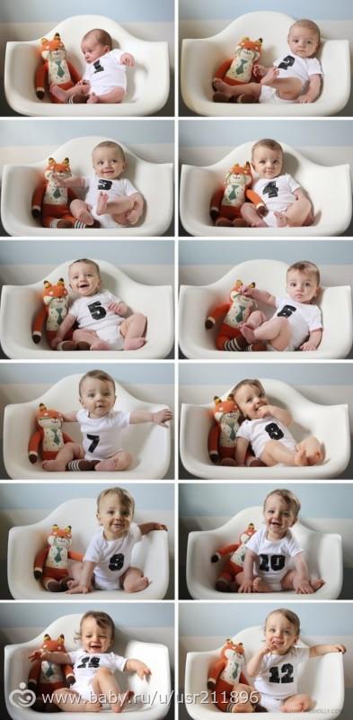 Идеи фото ребенка по месяцам с цветами
