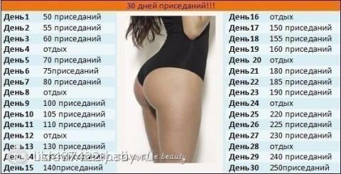 таблички для похудения упражнения
